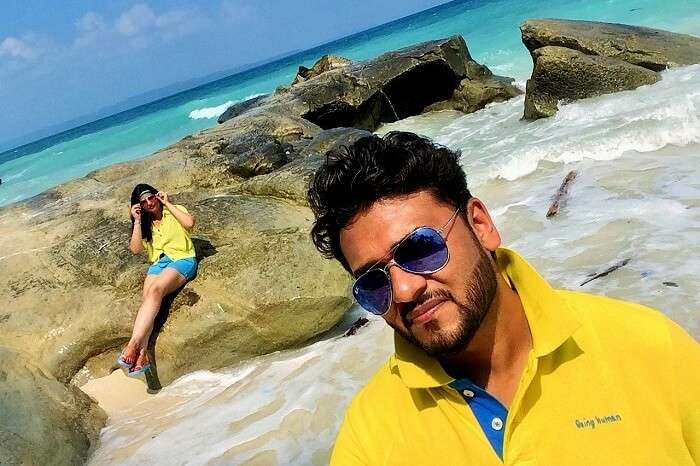 Romantic couple at beach in Andaman