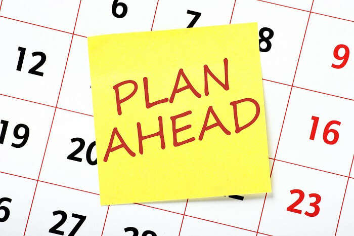 Plan Ahead Calendar