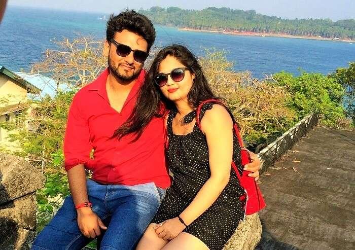 romantic couple on honeymoon in Andaman