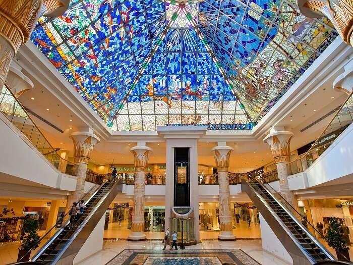 Shopping at Wafi Mall in Dubai