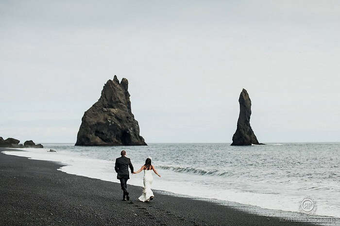 Black Sand Beach Wedding Photography In Greece