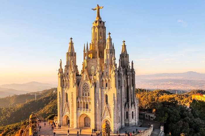 Mount Tibidabo in Barcelona, Spain