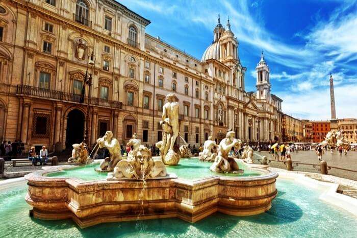 beautiful fountains at Piazza Navona