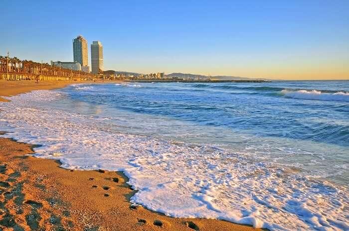 La Barceloneta Beach in Spain