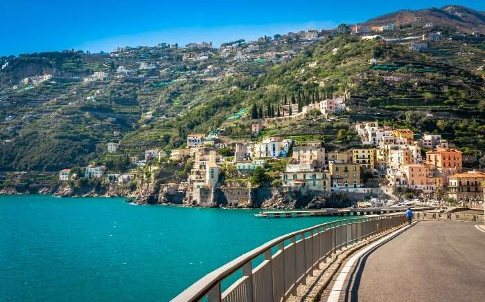 Road in Amalfi in Italy
