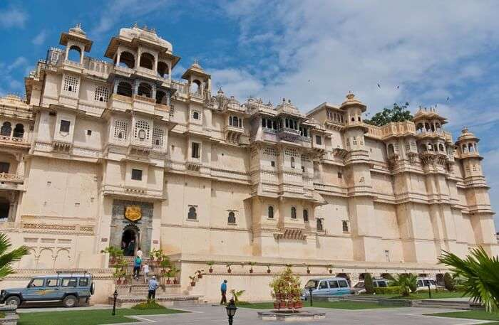 View of City Palace in Udaipur