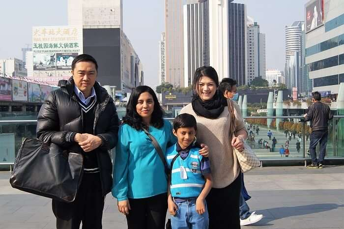 Sudip and their guide in Shenzhen
