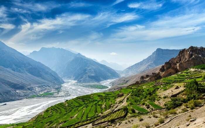 Scenic landscape in Himachal