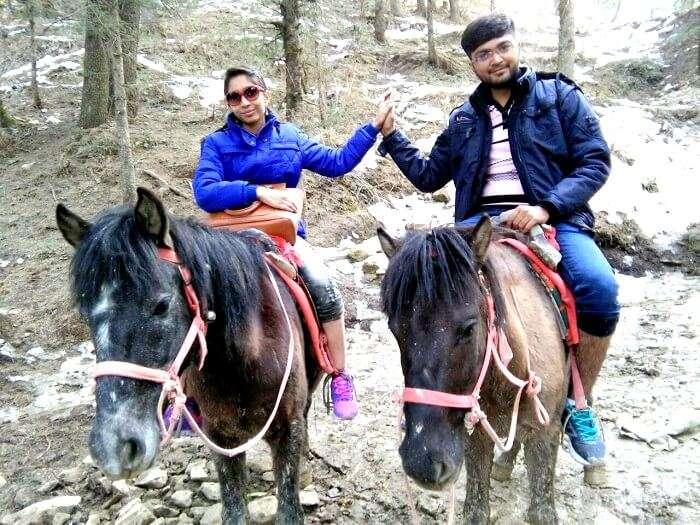 Tourists near shimla