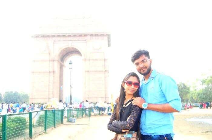 Couple around Delhi