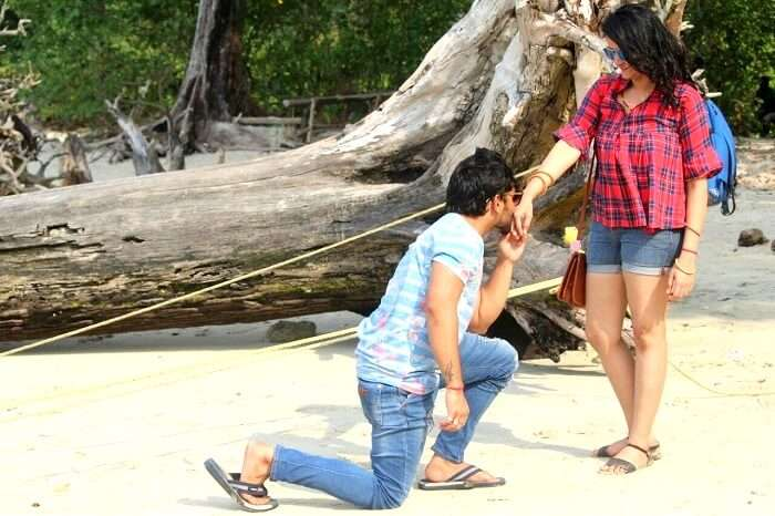 Couple touring Andaman