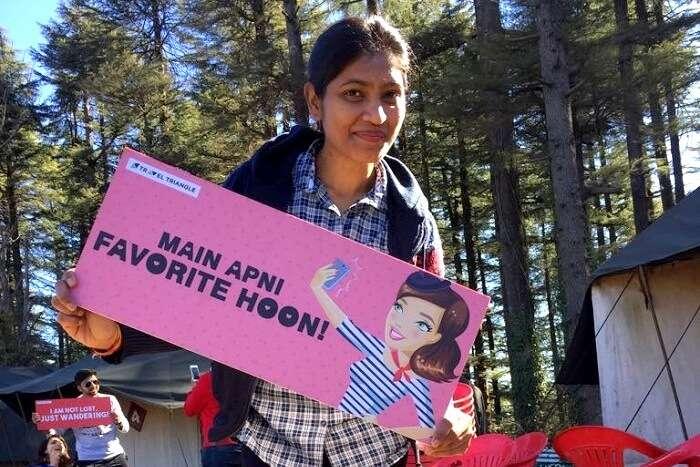 kalpana posing for the cameras