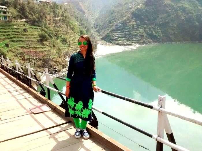 Female tourist near Chandigarh