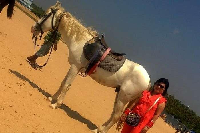 horse ride beack kanyakumari