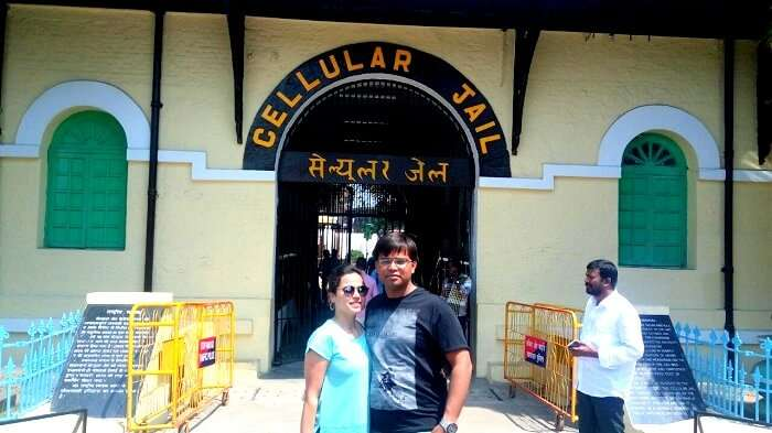 Tourists sightseeing in Port Blair