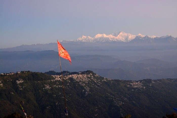 Indian flag at Nathu la pass