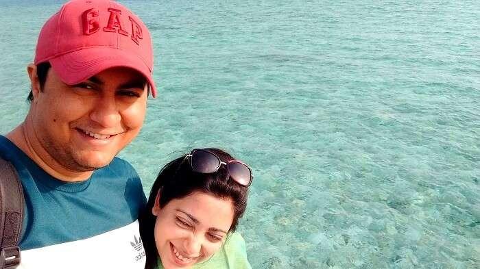 jyotika and her husband enjoying maldives