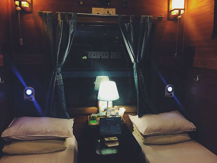 Enjoying Sapa Valley journey in luxurious cabin