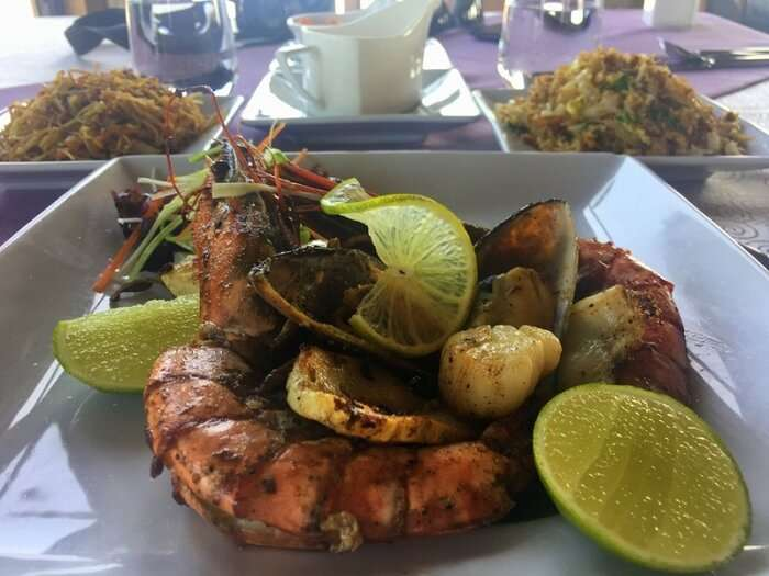 Sea food in resorts of Maldives