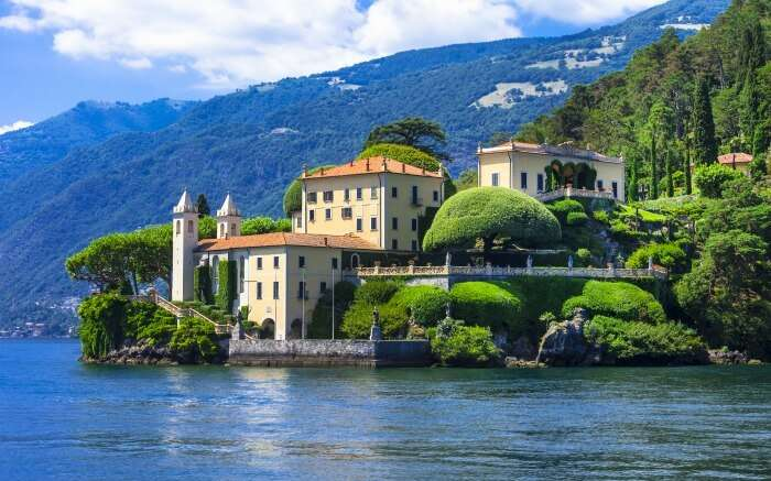 View of Lake Como in Italy