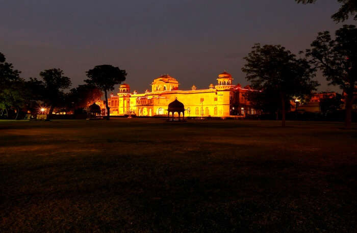 Lallgarh Palace View at night