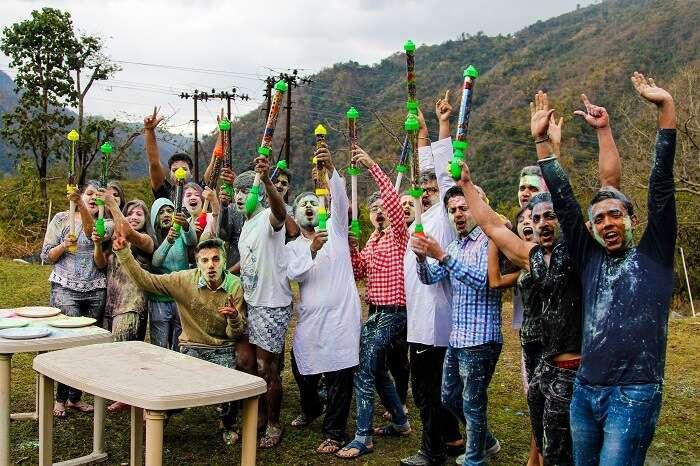 Group activities in Rishikesh