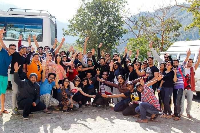 Travelers in Rishikesh
