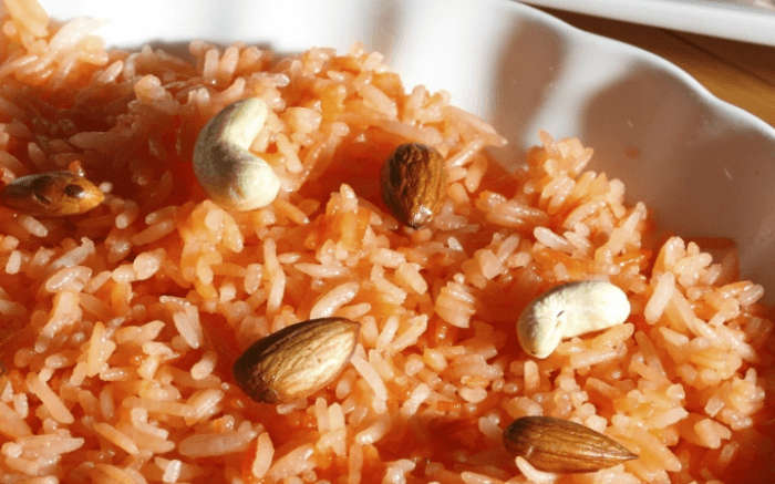Mitha bhaat - local dish of HImachal