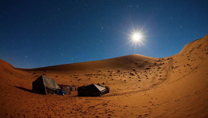 Night camping in Dubai
