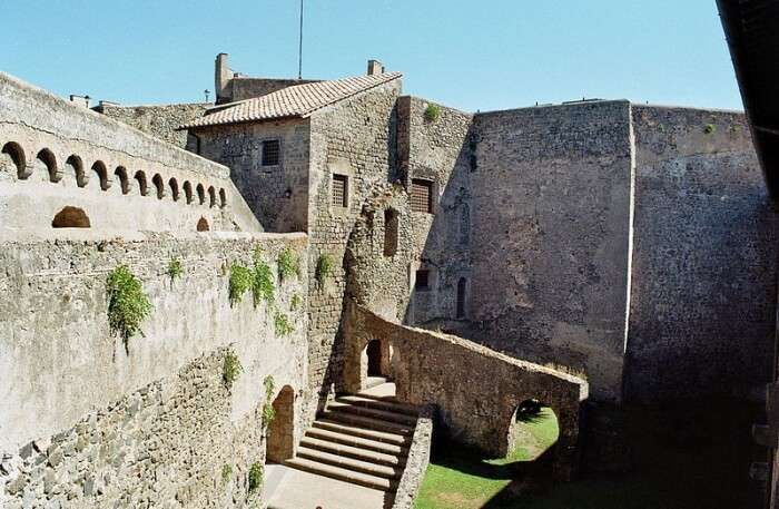 Interior view of castle