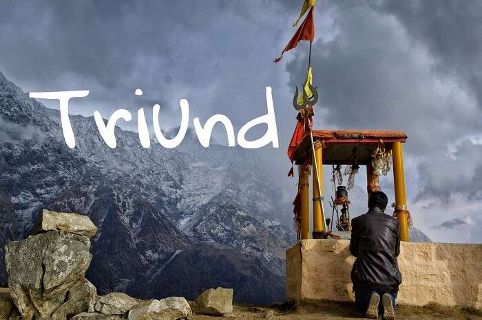 A traveler atop the Triund hill