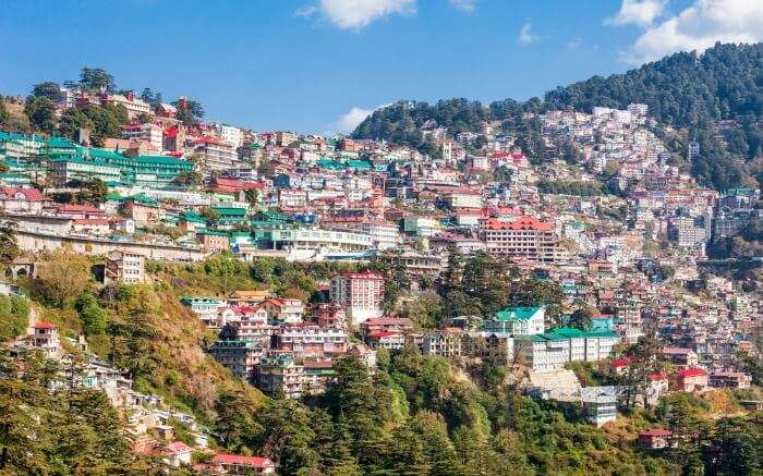 View of Shimla city in Himachal Pradesh