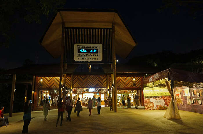 The Night Safari in the world's first nocturnal zoo