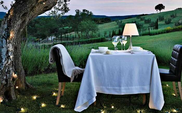 Romantic setting in Tuscany