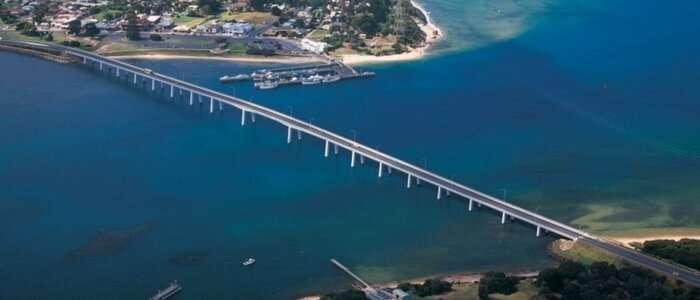 Top view of Phillip island in Victoria