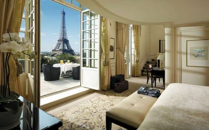 View from a room in Shangri La Hotel Paris