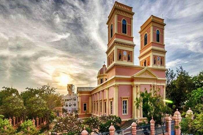 Visit the many churches in Pondicherry