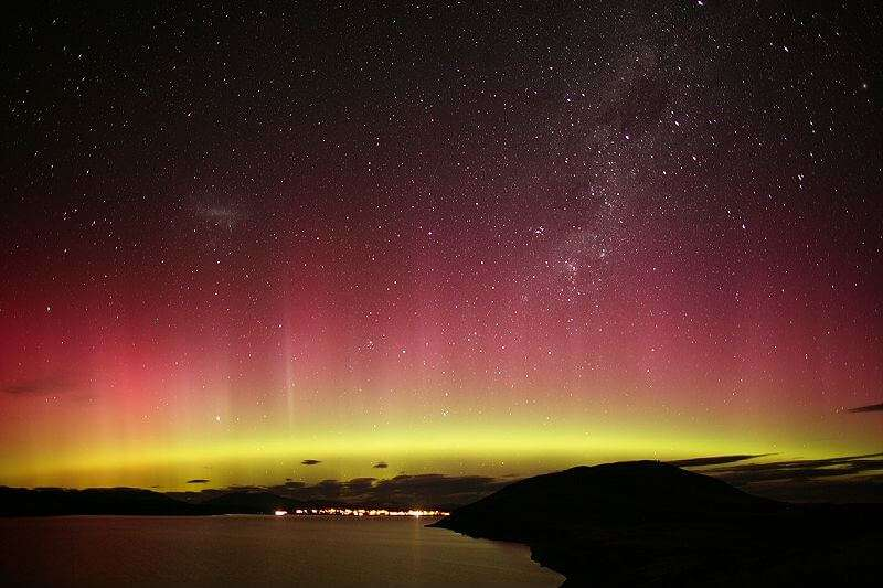Auroa Australis over Steward Island in New Zealand