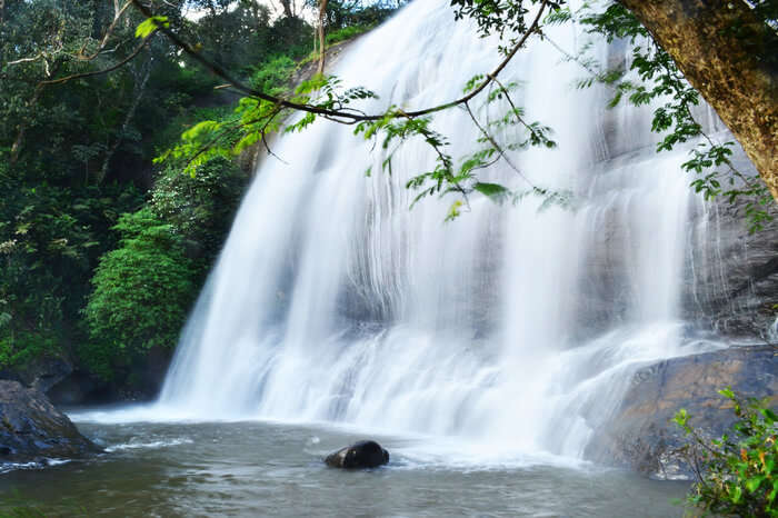 Chelavara waterfall in Coorg Karnataka