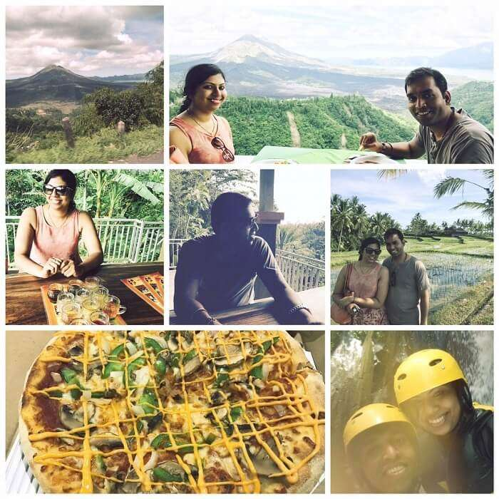 Pranisha and her husband having fun in Bali