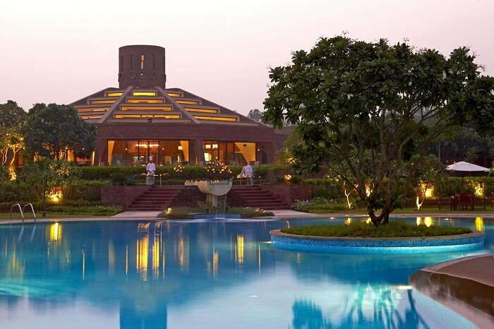 A shot of the pool at the Westin Resort in Sohna near Gurgaon