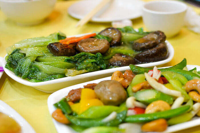 vegetarian food at Po Lin monastery