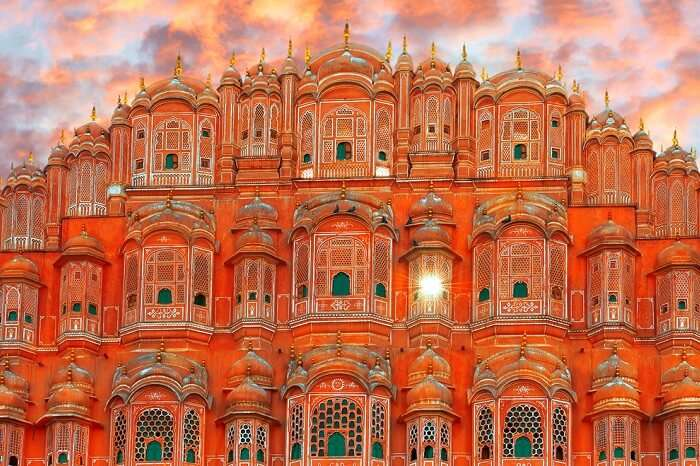 A view of the beautiful Hawa Mahal in Jaipur