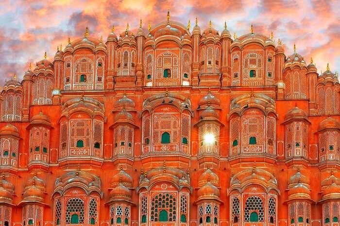 A view of the beautiful Hawa Mahal in Jaipur