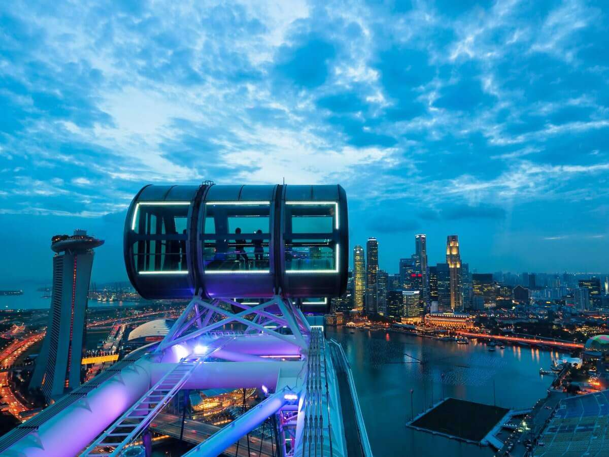 a cabin of the Singapore Flyer