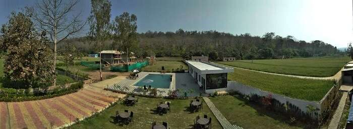 resort view in Jim corbett