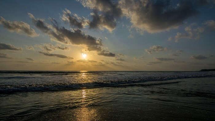 sunset at Kashid beach, Maharashtra