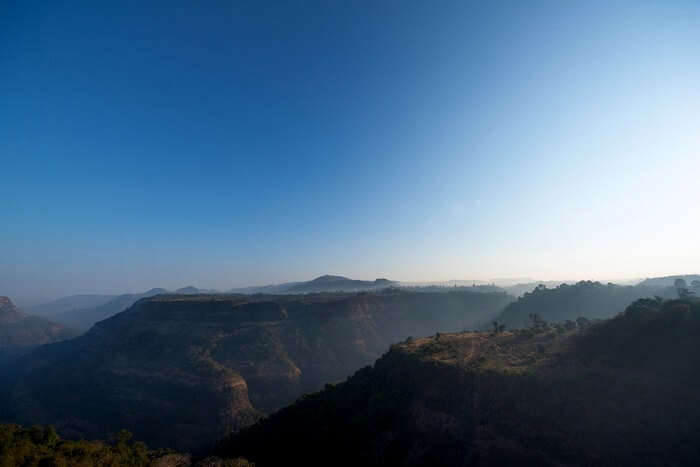 Sunrise over the hills of Khandala, Maharashtra