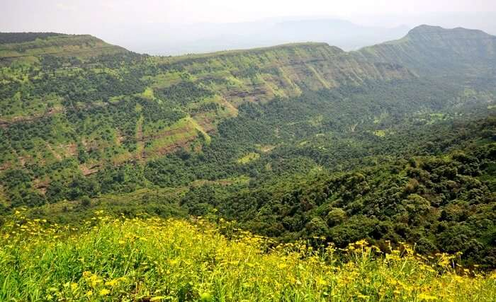 lush green mountains of Matheran, Maharashtra