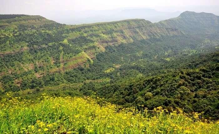 lush green mountains of Matheran, Maharashtra